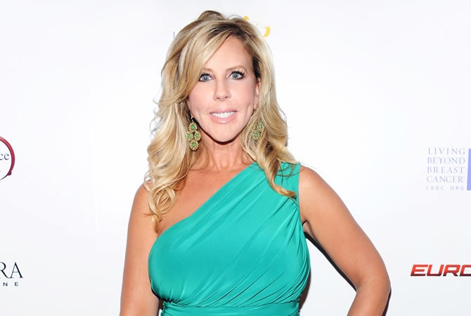 Vicki Gunvalson green dress