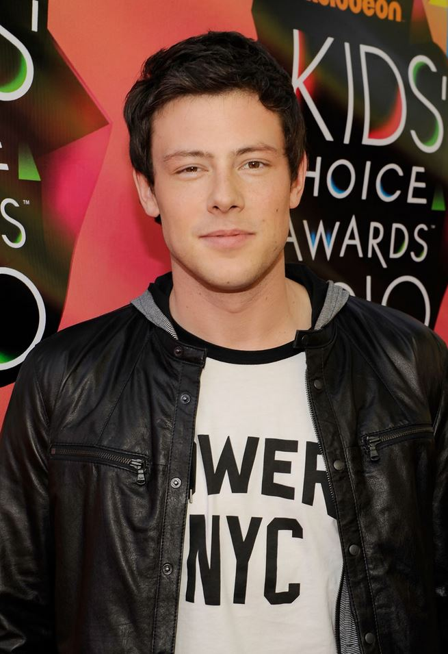 Cory Monteith leather jacket