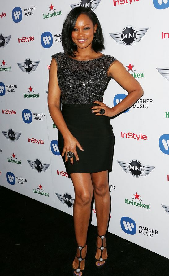 Garcelle Beauvais black dress