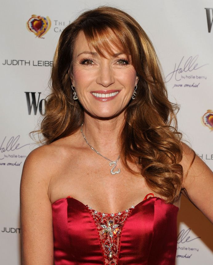 Jane Seymour red dress