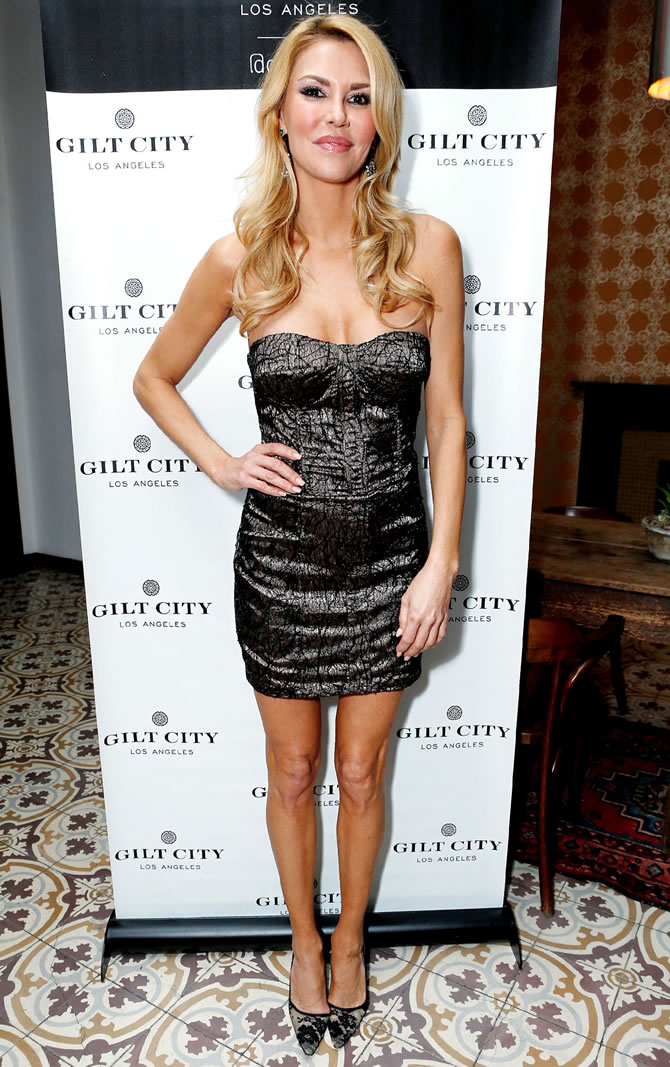 Brandi Glanville skinny black dress
