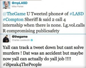 Tweets from LASD and The Game