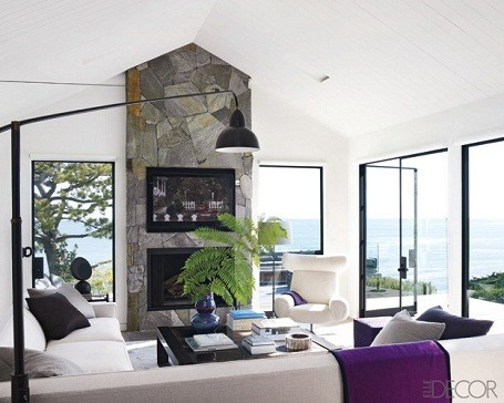 Living room in Courtney Cox's Malibu mansion