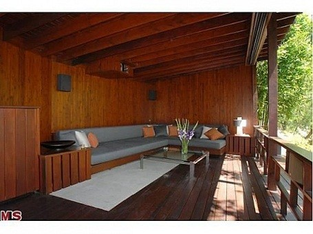 Outdoor theater seating at Heath Ledger's Treehouse
