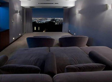 View from Matthew Perry's home theater