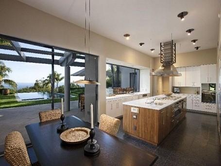 View from kitchen in Michael Bay's Santa Barbara mansion