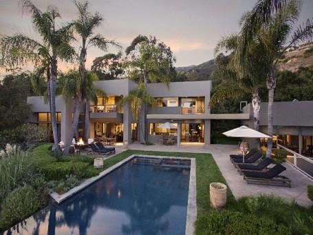 backyard of Michael Bay's Santa Barbara Mansion