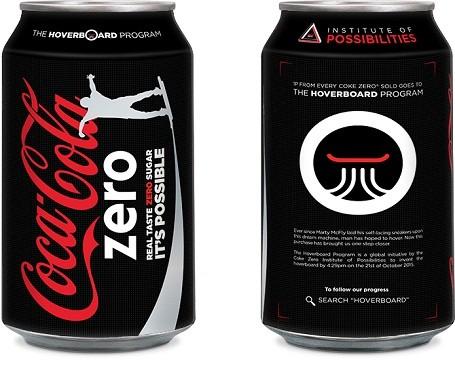Coke Zero can design for the Hoverboard Program