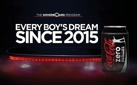 coke zero hoverboard program print ad