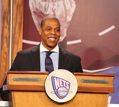 Jay-Z, co-owner of the Brooklyn Nets