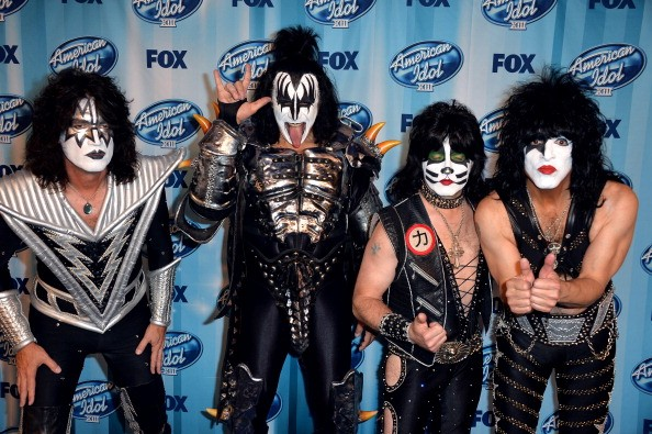 Gene Simmons and KISS all decked out