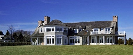 Close view of Jennifer Lopez's Hamptons mansion