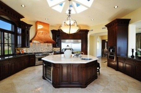 Kitchen in Donald Trump's Palos Verdes home in California