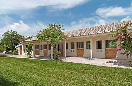 Horse stable at Bill Gates Florida rental home