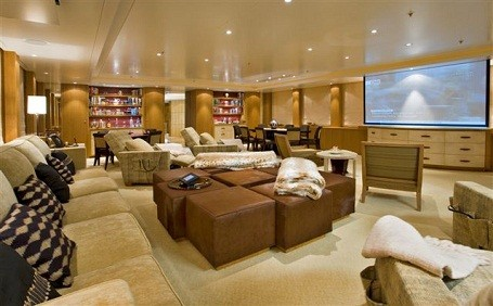 Home theater in Dan Snyder's super yacht