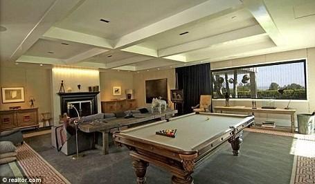 Games room in Ellen DeGeneres and Portia De Rossi's Beverly Hills mansion