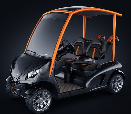 The limited Garia Golf cart made by Mansory