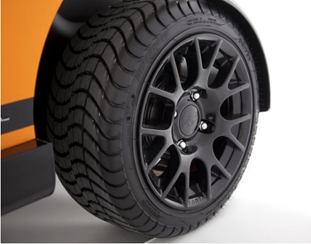 Garia golf carts offer full customization of paint, wheels and the interior