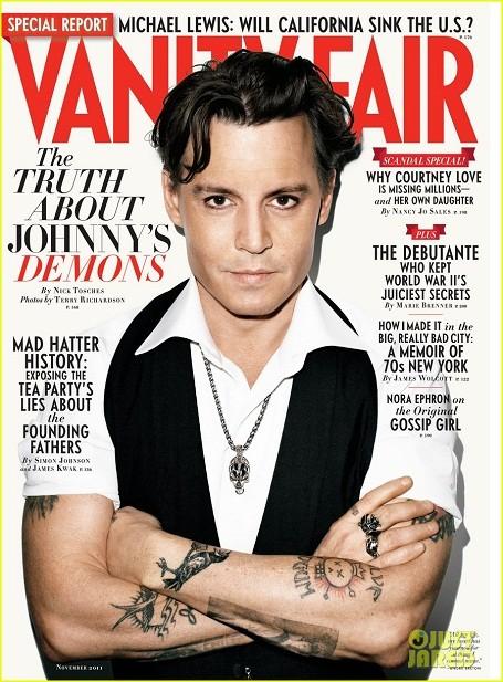 Johnny Depp featured in Vanity Fair