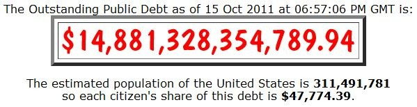 How much is the total national debt?