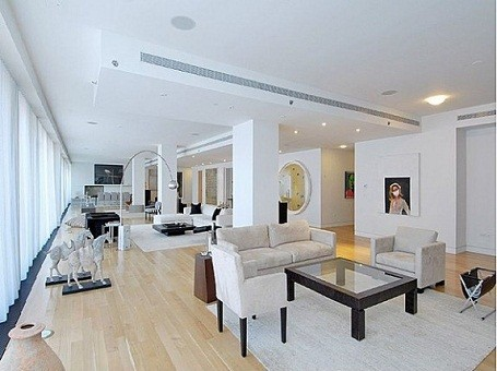 Will Smith's living room in his NYC rental condo while filming Men in Black 3