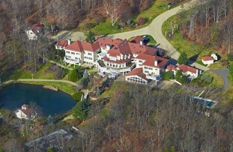 50 Cent's home in Farmington, Connecticut was previously owned by Mike Tyson