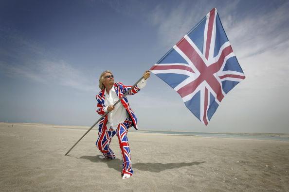 "Sir Richard Branson claiming Great Britain Island, in ""The World"", Dubai."