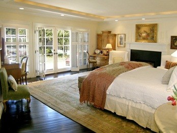 Bedroom in Jonah Hill's Tarzana home in California