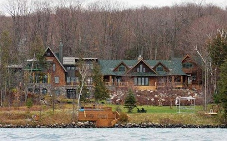 Michael Moore's house: A $2 million mansion on Torch Lake, Michigan.