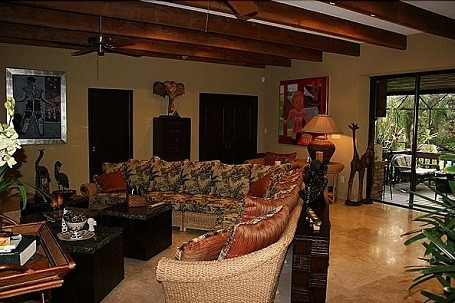 Matt Drudge's living room in his new Miami rancher home