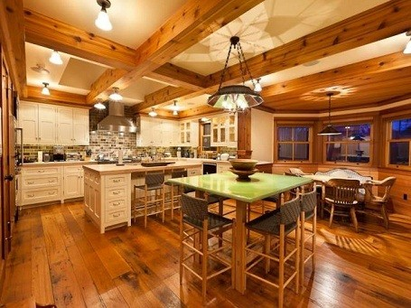 Jerry Seinfeld's kitchen in his vacation home in Colorado.