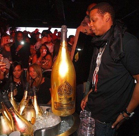 Jay-Z set the record for most spend on Ace of Spades Champagne at $250,000.