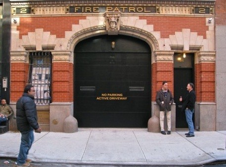 New entrance to Anderson Cooper's firehouse home in New York.