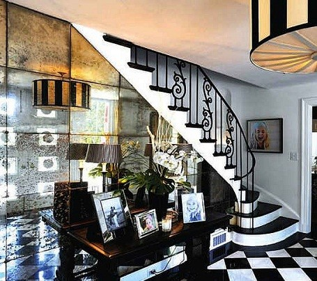 Spiral staircase in Taylor Swift's home in Nashville, Tennessee.