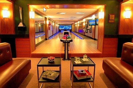 Custom bowling alley by Fusion Bowling.