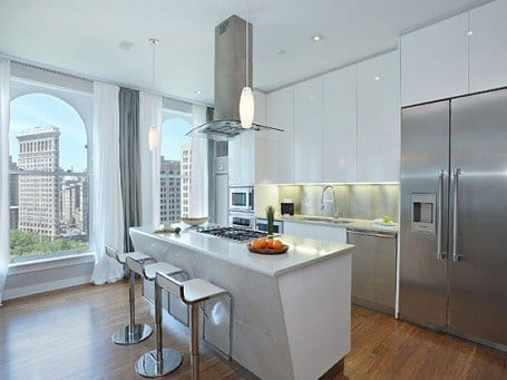 Blake Lively's kitchen in her Manhattan penthouse.