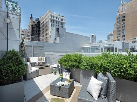 Blake Lively's terrace on her Manhattan penthouse.