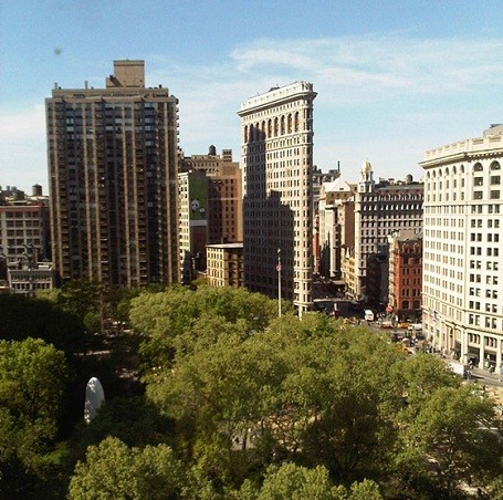 View of Madison Square from Blake Lively's penthouse.