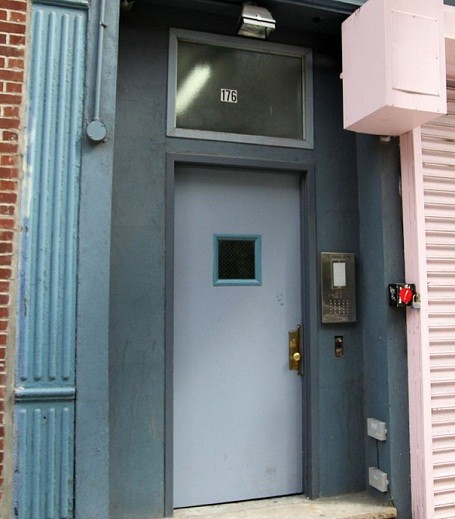 Entrance to Lady Gaga's old Apartment on New York's Lower East Side.