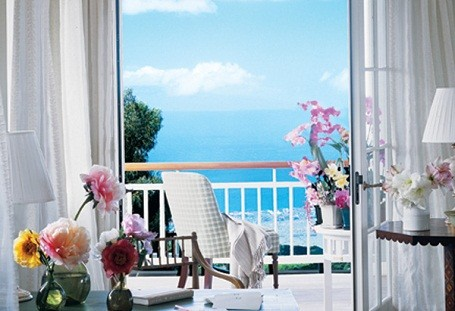 Master bedroom balcony in Oprah's home in Maui, Hawaii.