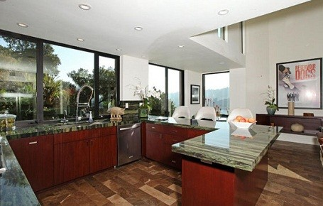 Kitchen in Kristen Stewart and Robert Pattinson's summer home in Bel Air.