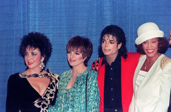 Michael Jackson gathers with Elizabeth Taylor, Liza Minnelli and Whitney Houston