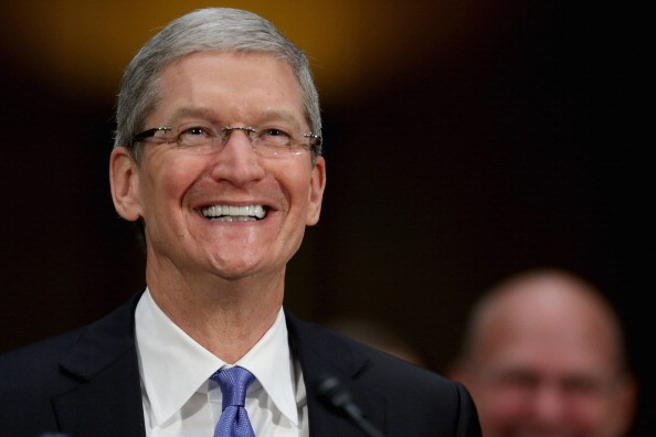 Apple CEO Tim Cook is Very Happy