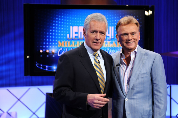 Pat Sajak and Alex Trebek