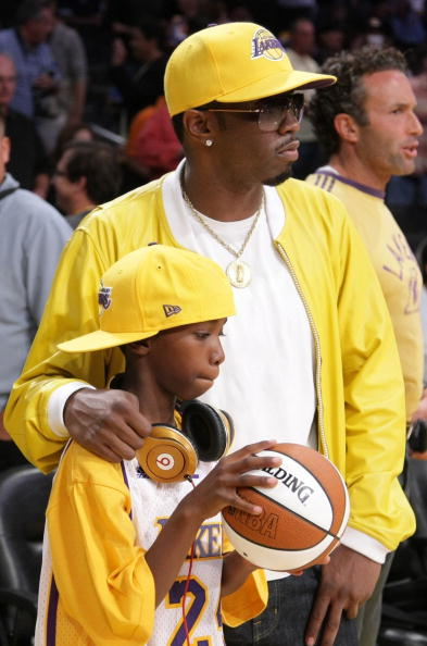 Justin Combs with Diddy
