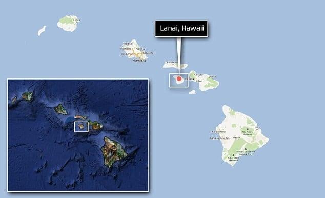 Lanai island Map