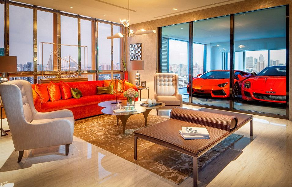Ferraris in Living Room Garage
