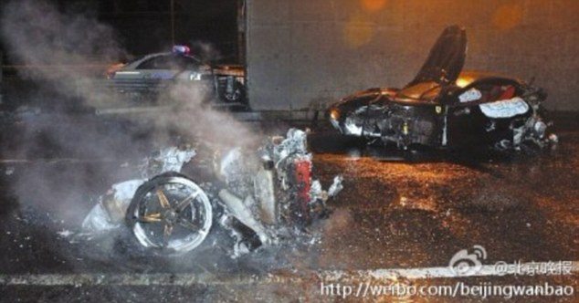 Ferrari Crash by Chinese Playboy