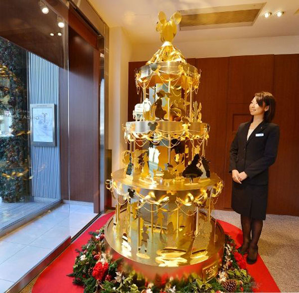 Gold Disney Christmas Tree