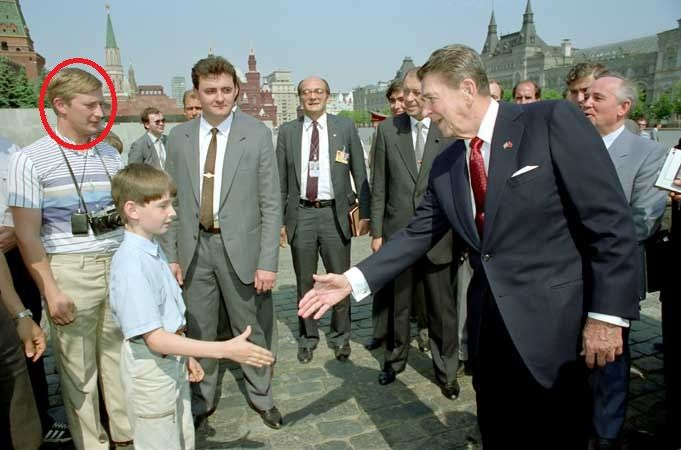 Putin Reagan Photo